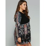 Plus Size Lace Splicing Smock Dress deal