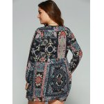 Plus Size Lace Splicing Smock Dress for sale
