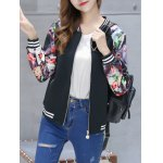 cheap Floral Zip Up Short Sports Jacket