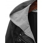 Plus Size Hooded Faux Leather Jacket deal