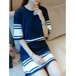 Stripe Knit Short Two Piece Dress deal