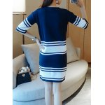 Stretchy Striped Color Spliced Two Piece Dress for sale