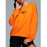 Active Round Neck Long Sleeve Letter Print Sweatshirt