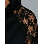 Lace Up Long Sleeve Lace Spliced Hoodie photo