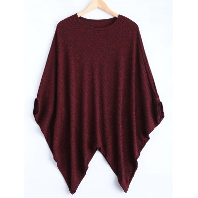 Dolman Sleeve Asymmetric Sweater