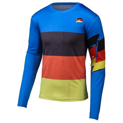 Flag Pattern Color Splicing T-Shirt