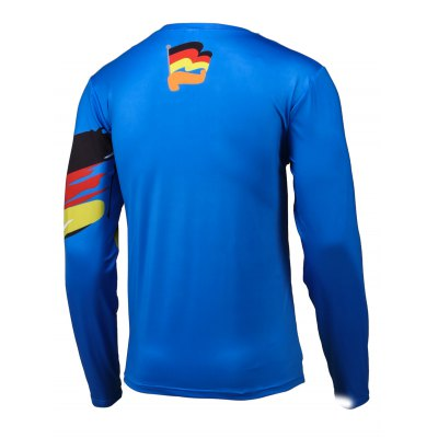 Flag Pattern Color Splicing Long Sleeve T-Shirt