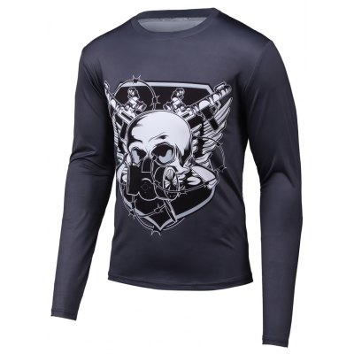 Skull 3D Printed Long Sleeve T-Shirt