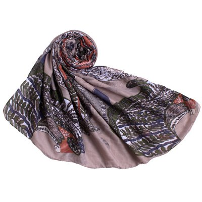 Retro Paisley Pattern Voile Scarf