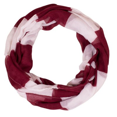 Chic Color Block Stripe Pattern Voile Scarf