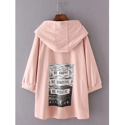 3/4 Sleeves High Low Back Printed HoodiePlus Size Outerwear<br>3/4 Sleeves High Low Back Printed Hoodie<br><br>Material: Cotton Blends<br>Clothing Length: Regular<br>Sleeve Length: Three Quarter<br>Collar: Hooded<br>Style: Casual<br>Season: Fall,Spring<br>Pattern Type: Print<br>Weight: 0.532kg<br>Package Contents: 1 x Hoodie