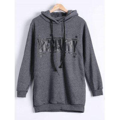 Letter Print Thicken Hoodie