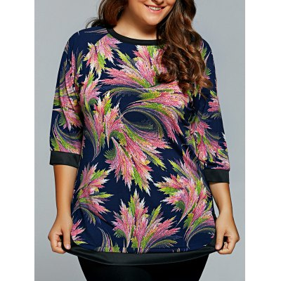 Abstract Print Half Sleeves T-Shirt