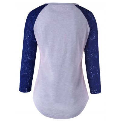 Plus Size Lace Splicing Single Pocket T-ShirtPlus Size Tops<br>Plus Size Lace Splicing Single Pocket T-Shirt<br><br>Material: Rayon<br>Clothing Length: Long<br>Sleeve Length: Full<br>Collar: Scoop Neck<br>Style: Casual<br>Season: Fall,Spring,Summer<br>Pattern Type: Floral<br>Weight: 0.205kg<br>Package Contents: 1 x T-Shirt