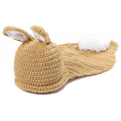 Baby Photography Little Rabbit Knitted Hooded Blanket