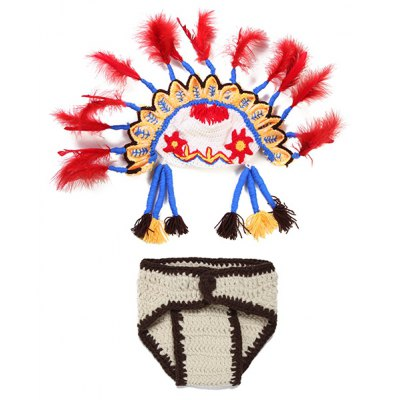 Photography American Indian Ethnic Knitted Baby Clothes Set