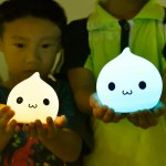 Colorful LED Silica Gel Cartoon Ombre Night Light