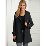 cheap Belted Epaulet Trench Coat