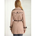 Belted Pockets Trench Coat for sale