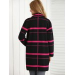 Loose Plaid Color Spliced Coat for sale