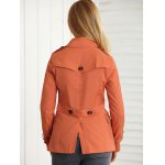 Slimming Pockets Double-Breasted Jacket for sale
