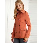 Slimming Pockets Double-Breasted Jacket deal