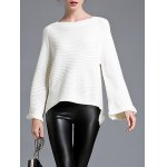 cheap Pullover Bell Sleeve Knitwear