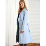 cheap Belted Maxi Trench Coat