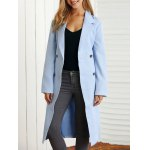 Tie Belt Double-Breasted Side Slit Trench Coat