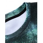 3D Starry Sky and Tree Print Round Neck Long Sleeve Sweatshirt deal