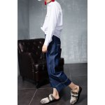 Wide Leg Cropped Jeans for sale