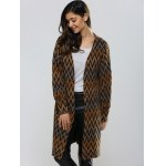 Wavy Stripe Puff Sleeve Cardigan deal