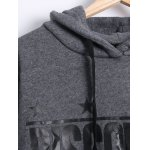 Long Sleeve Letter Print Fleece Hoodie deal
