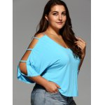 Plus Size Cut Out Sleeve Crop Top deal