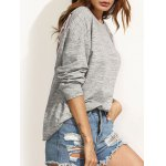 cheap Round Neck Loose Lace-Up Sweatshirt