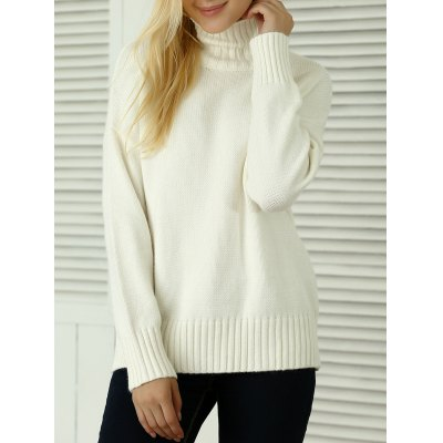 Loose-Fitting Knitted Pullover Sweater