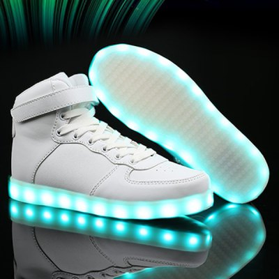 Lights Up Tie Up Casual Shoes