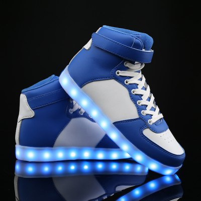 Colour Block Lights Up Led Luminous Casual Shoes