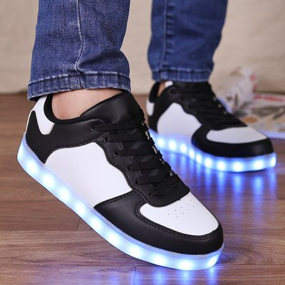 Lights Up Colour Splicing Casual Shoes