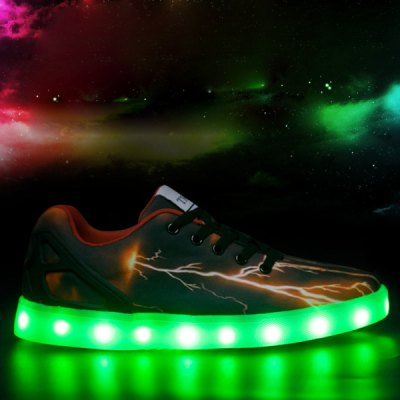 Lightning Pattern Lights Up Casual Shoes