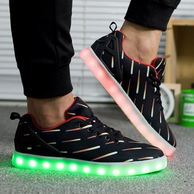 Meteor Pattern Lights Up Casual Shoes