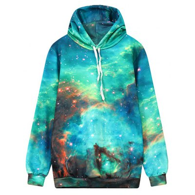 Hooded Front Pocket Galaxy Hoodie