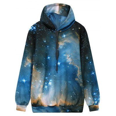 Front Pocket Hooded Galaxy Hoodie