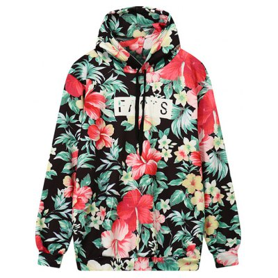 Floral Outerwear Hoodie