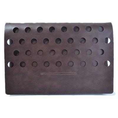 Covered Hollow Out PU Leather Clutch Bag