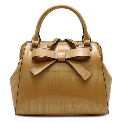 Bowknot PU Leather Tote Bag