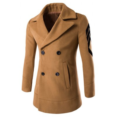 Turn-Down Collar Double-Breasted Coat