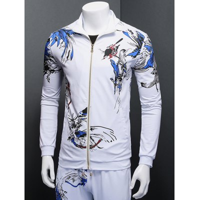 Floral Bird 3D Print Zip Up Long Sleeve SweatshirtPlus Size Outerwear<br>Floral Bird 3D Print Zip Up Long Sleeve Sweatshirt<br><br>Clothes Type: Others<br>Style: Casual<br>Material: Cotton Blends<br>Collar: Stand Collar<br>Clothing Length: Regular<br>Sleeve Length: Long Sleeves<br>Season: Fall,Spring<br>Weight: 0.500kg<br>Package Contents: 1 x Sweatshirt