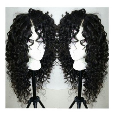 Long Curly Side Parting Lace Front Synthetic Wig