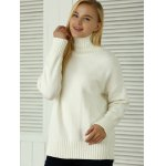 cheap Knitted Pullover Loose-Fitting Sweater